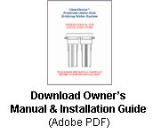 under sink filter manual and installation guide