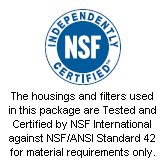 NSF Certified Housings and Filters!