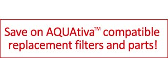 AQUAtiva replacement water filters