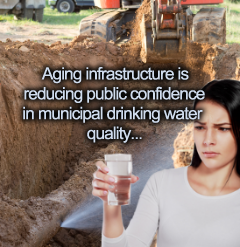 Aging infrastructure is reduce public confidence in their water