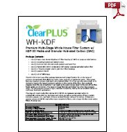Download Owners Manual for WHC-KDF KDF-55/GAC Filter