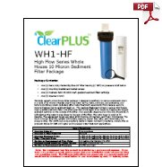 Download Owners Manual for WH1-HF 10 Micron Whole House Sediment Filter