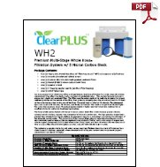 Download Owners Manual for WH2 5 Micron Whole House Carbon Filter