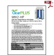 Download Owners Manual for WH2-HF 5 Micron Whole House Carbon Filter