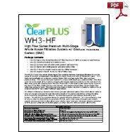 Download Owners Manual for WH3-HF GAC Carbon Filter