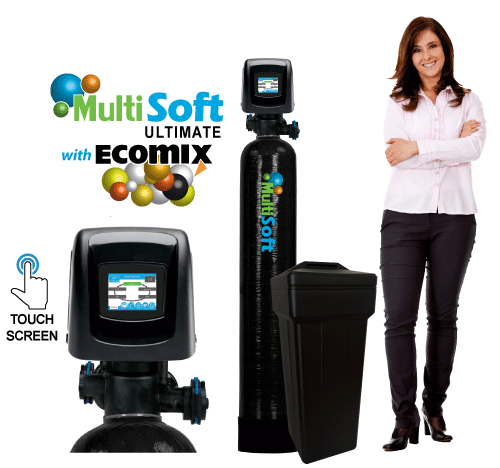 HomePlus MultiSoft&#8482; Ultimate Series <br>Water Softeners w/ Ecomix&reg-C<br>w/ LCD Color Touch Screen