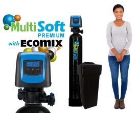 <font color=#0890DA>MultiSoft&#8482; Premium Series <br>Water Softeners w/ Ecomix&reg-C</font>