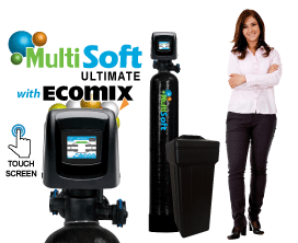<font color=#000000>MultiSoft&#8482; Ultimate Series <br>Water Softeners w/ Ecomix&reg-C</font>